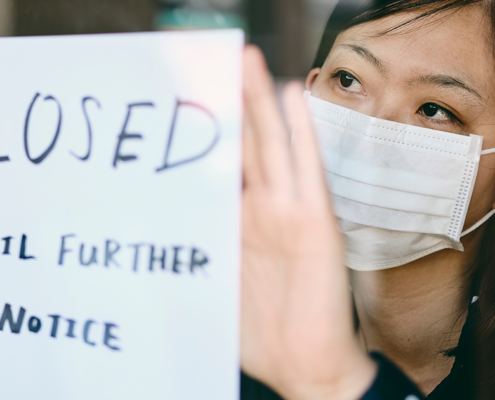 The report estimates that 233,000 Asian American small businesses closed from February to April, representing a decline of 28% over the two-month period. Photo by Rich Legg / iStock
