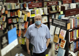 Joel Sheldon, owner of Vroman's Bookstore, worries that his Pasadena store may not make it through the year because of the economic devastation caused by the COVID-19 pandemic. (Myung J. Chun / Los Angeles Times)