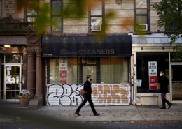 'For Lease' signs and shuttered storefronts have become a common sight as small businesses struggle to survive the pandemic. Photographer: Gabby Jones/Bloomberg