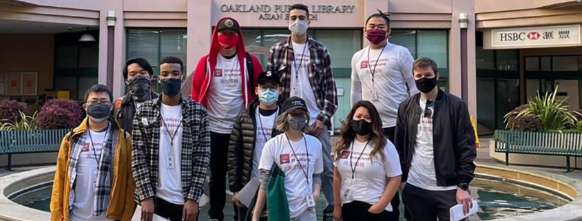 Hundreds of volunteers signed up to accompany older Asian Americans in Oakland's Chinatown neighborhood to help keep them safe.
