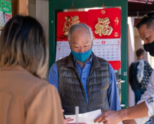 At least 700 Oaklanders signed up to help escort older Asian Americans in the community to keep them safe after a slew of harassment around the Bay Area. // Courtesy of Compassion in Oakland